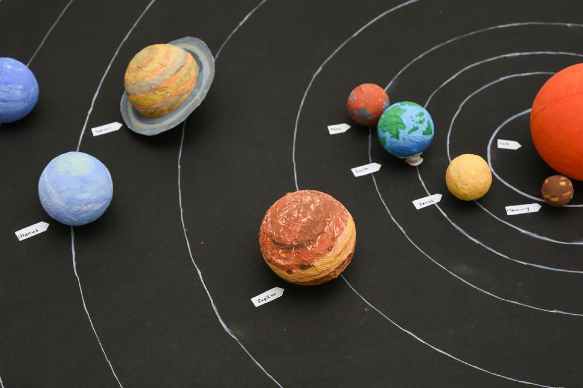Фото модель солнечной системы