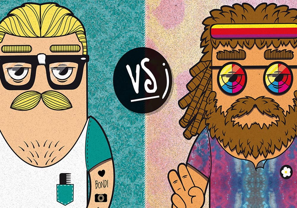 hipsters vs hippies