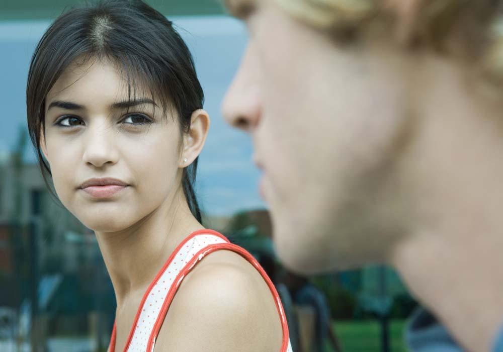Girl staring bakc