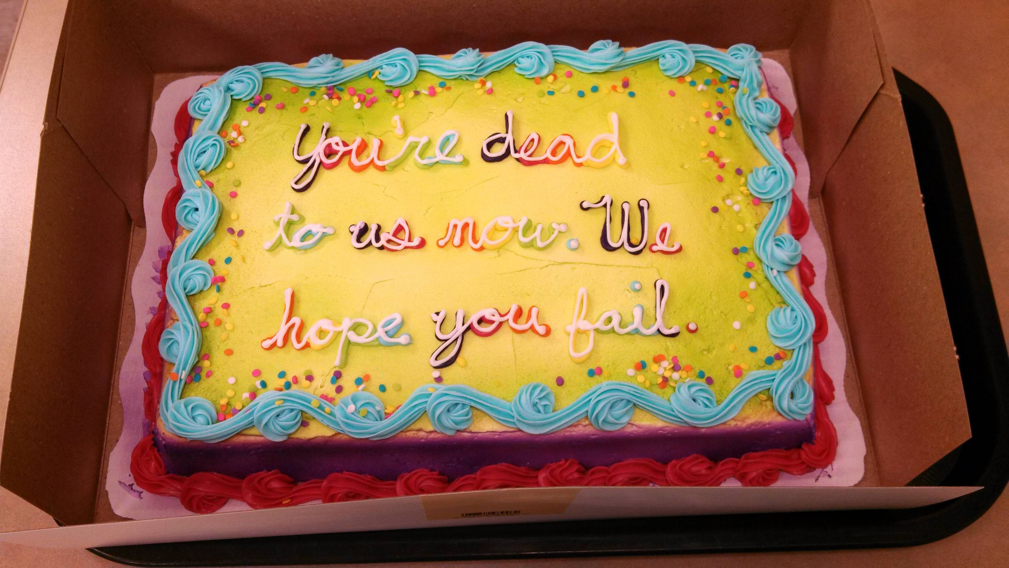 Birthday Cake Messages For Coworkers