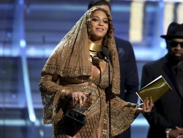Beyoncé receives the 2017 Grammy for Best Urban Contemporary Album.