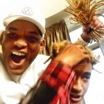 Will Smith showing off the newly chopped dreadlocks