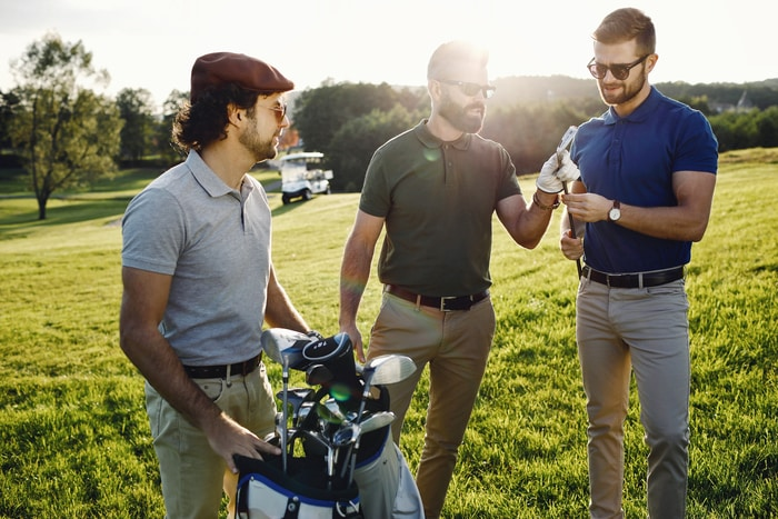 Playing Golf with Friends on Holiday Weekend